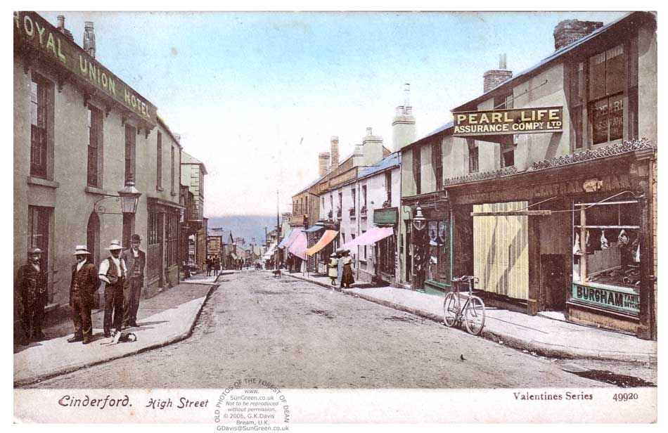 A Colour Photo Of Shops And Shoppers In Cindeford High