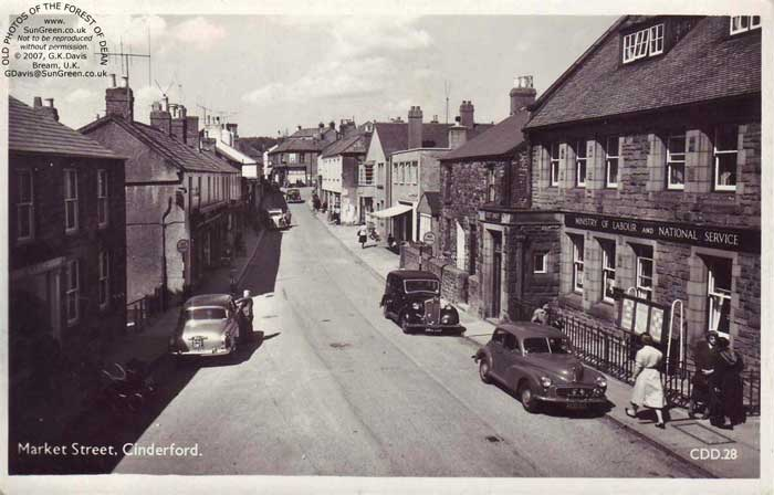 A View Of Market Street Cinderford Gloucestershire