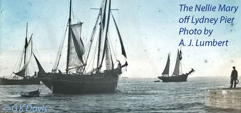 The Nellie Mary off Lydney Pier