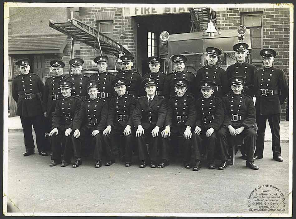 Members of Lydney Fire Brigade in 1940