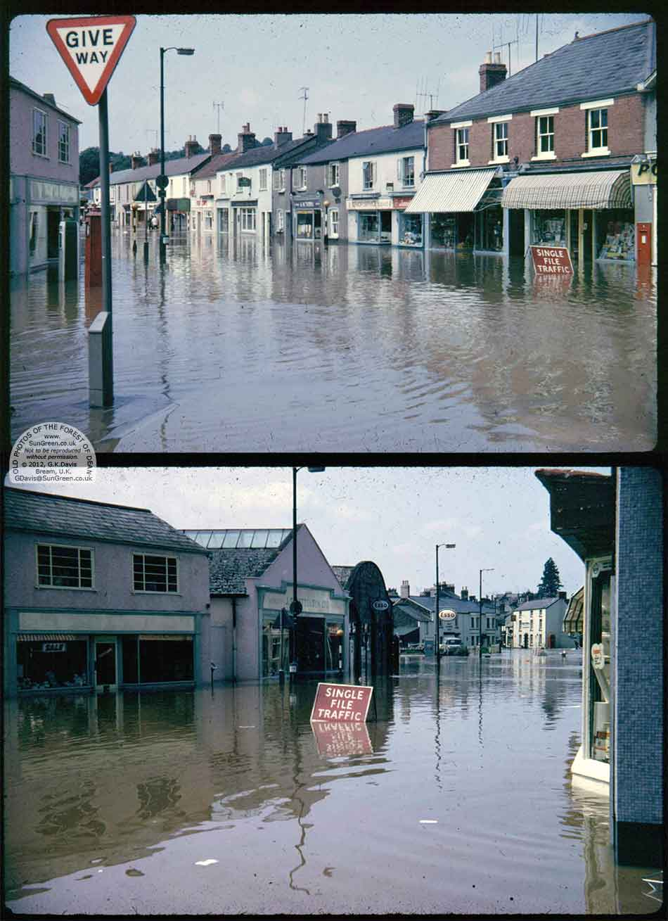Lydney - flooding in Newerne St in 1968